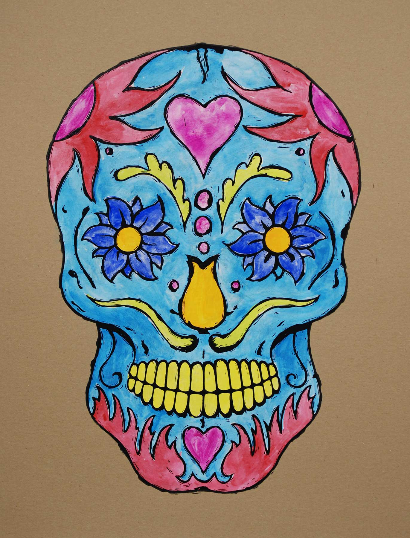 Tattoo skull color for Color skull tattoos