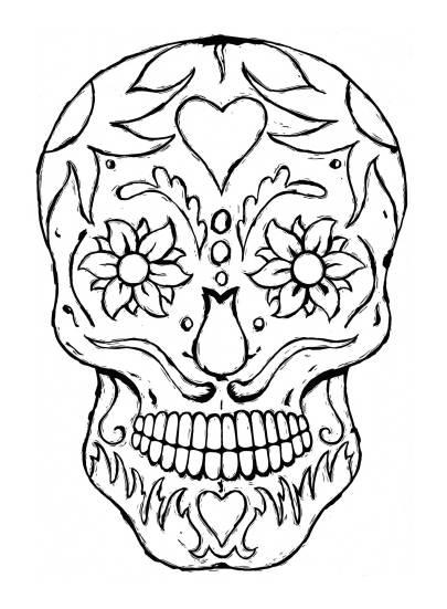Tattoo Skull, Linocut